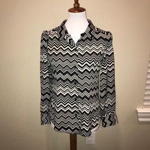 Missoni for Target black and white blouse